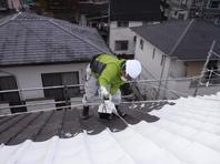 茨城県 常陸大宮市 B様邸【屋根塗装工事】 下塗り作業