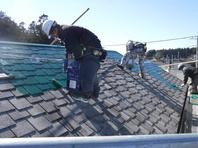 那珂市 か和とく様 屋根塗装(中塗り・上塗り)