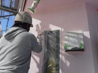 那珂市 か和とく様 外壁塗装(中塗り・上塗り)