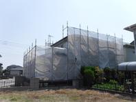 潮来市 I様  屋根・外壁塗装 (着工前・架設足場)