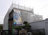 潮来市 Y様 屋根・外壁塗装(着工前・架設足場)