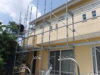 城里町  T様  外壁塗装(架設足場組み立て・高圧洗浄)