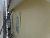 城里町 T様 外壁塗装(中塗り・上塗り)