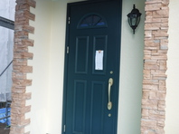 城里町  T様  玄関ドア塗装(施工前・ケレン・下塗り・中塗り・上塗り)
