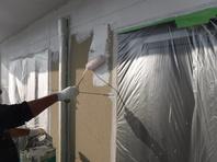 笠間市  S様  外壁塗装(下塗り)