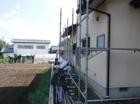 城里町  M様  外壁塗装(着工前・架設足場)