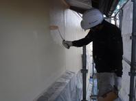 城里町  M様  外壁塗装(中塗り・上塗り)