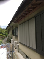 笠間市  S様  外壁塗装(着工前・足場組み立て)