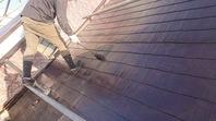 笠間市  S様  駐車場鉄部塗装(施工前・ケレン・下塗り・中塗り・上塗り)