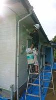 鹿嶋市  K様  外壁塗装(養生・下塗り・中塗り)