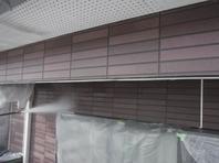 真岡市  K様 外壁塗装(養生・高圧洗浄)