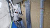 笠間市 S様邸 外壁塗装(中塗り・上塗り)