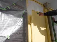 水戸市  Y様邸  外壁塗装工(中塗り・上塗り)