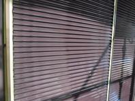 水戸市  Y様邸  雨戸塗装(施工前・ケレン・上塗り)
