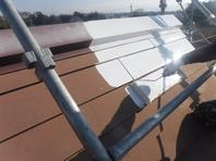 水戸市  M様邸  屋根塗装(下塗り)