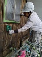 水戸市  M様邸  外壁塗装(施工前・ケレン)