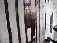 水戸市  M様邸  外壁塗装(中塗り)