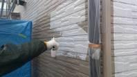 真岡市  T様邸  外壁塗装(下塗り)
