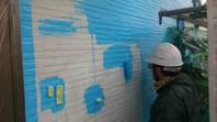 真岡市  T様邸  外壁塗装(中塗り・上塗り)