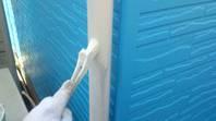 真岡市 T様邸 雨樋塗装(施工前・ケレン・下塗り・上塗り)