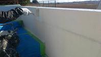 常陸太田市 S様邸 塀塗装(施工前・下塗り・中塗り)