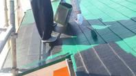 常陸太田市 S様邸  屋根塗装(上塗り)