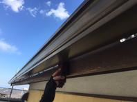 日立市 M様邸 破風塗装(施工前・ケレン・下塗り・上塗り)