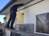 日立市 M様邸 外壁塗装(下塗り)