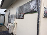 日立市 M様邸 外壁塗装(中塗り・上塗り)