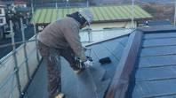 日立市 K様邸 屋根塗装(中塗り)