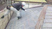 日立市 K様邸 屋根塗装(下塗り)
