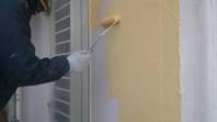 筑西市 N様邸 外壁塗装 (中塗り)