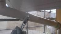 筑西市 N様邸 樋塗装(施工前・下塗り・上塗り)