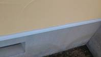 筑西市 N様邸 水切り塗装 (施工前・下塗り・上塗り)