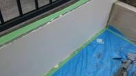 筑西市 N様邸 塀塗装(施工前・下地調整・下塗り)