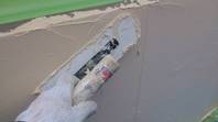 筑西市 N様邸 塀塗装(上塗り)