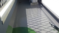 常陸太田市 H様邸 ベランダ防水(施工前・下塗り・樹脂塗布)