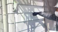 桜川市 N様邸 外壁塗装(中塗り)