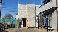 筑西市 I様邸 倉庫屋根・外壁塗装(架設足場組立)
