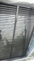 日立市 K様邸 雨戸塗装(施工前・ケレン・下塗り・上塗り)