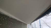 潮来市 W様邸 軒天塗装(施工前・下塗り)