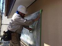 日立市 Y様邸 外壁塗装(養生)