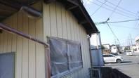 笠間市 K様邸 倉庫外壁塗装(養生・下塗り)