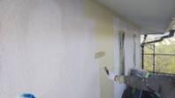 笠間市 K様邸 外壁塗装(下塗り・中塗り)