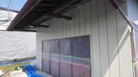 笠間市 K様邸 倉庫外壁塗装(中塗り・上塗り)