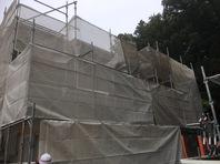 常陸太田市 I様邸 外壁塗装(架設足場組立)
