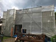 城里町 K様邸 外壁塗装(架設足場組立)