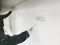 城里町 K様邸 外壁塗装(上塗り)