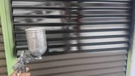 城里町 雨戸塗装 (施工前・ケレン・下塗り・中塗り・上塗り)