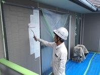 城里町 K様邸 外壁塗装(下塗・中塗り)